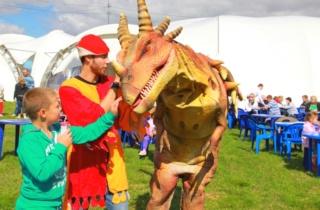 Динозавр на мероприятие eventvolna.ru